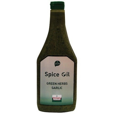 Spice oil green herbs garlic