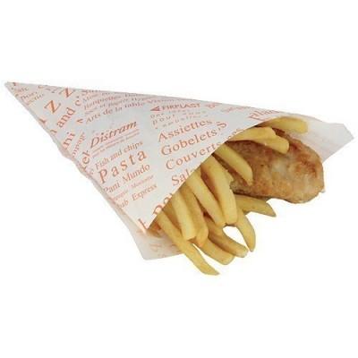 Cône fish & chips