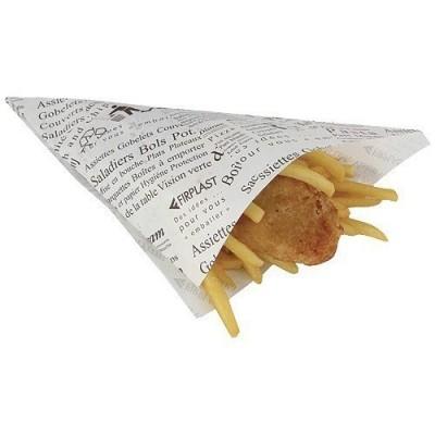 Cône à frites grand modèle