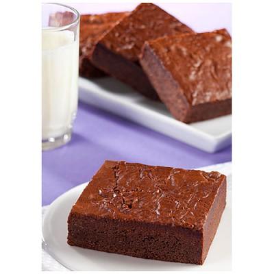 Brownies emballés, beurre, noix de pécan.