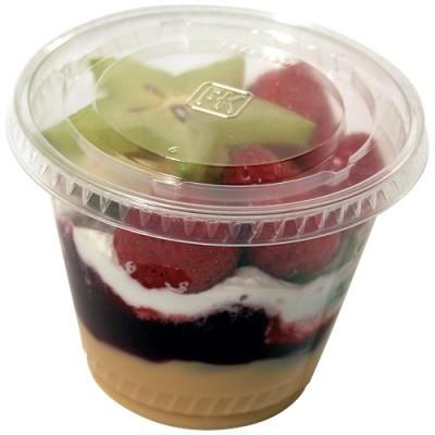 Couvercle plastique pour coupe dessert