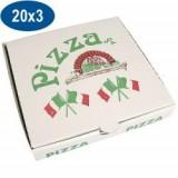 BOITE PIZZA 20X20X3 ECO RENF PPT (x100)