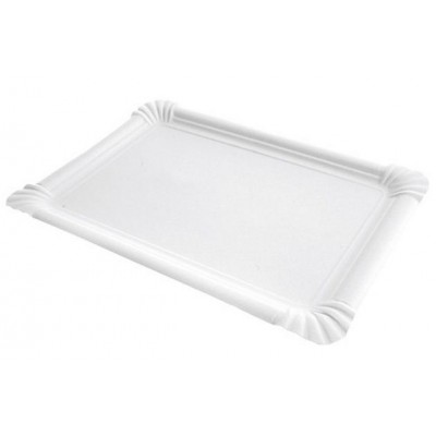 Assiette rectangle carton 21 x 30 cm