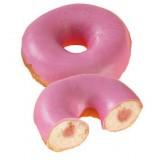 Donut fourre confiture de fraises