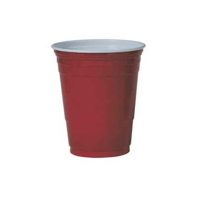 GOBELET PS ''PARTY CUP'' ROUGE 16OZ/473ML  (X 50)