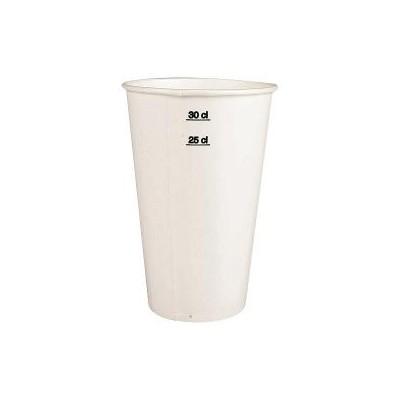 Gobelet carton blanc 25/30 cl 12 oz