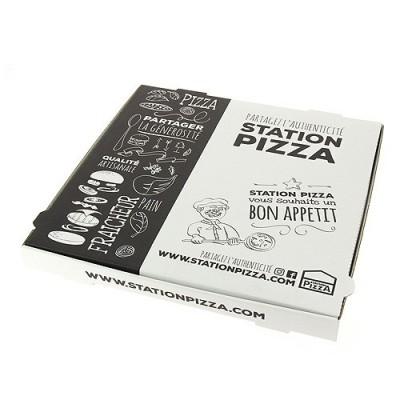 Boite pizza large Station Pizza