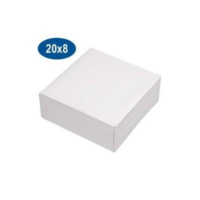 Boîte carton blanche 20 x 8