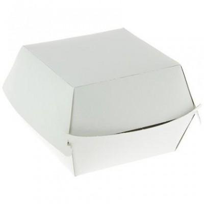 Boite Hamburger blanche en carton 97 x 97 x 70