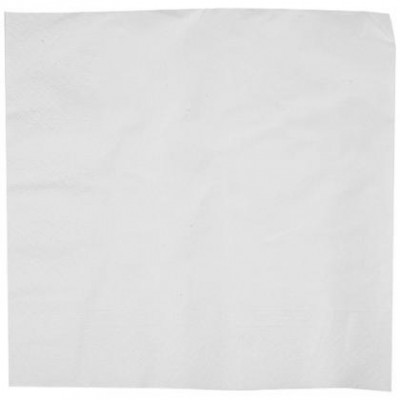 Serviette papier blanche 2 plis 30 X 30 cm