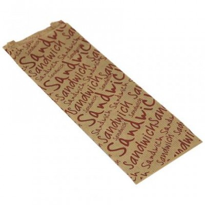Sac sandwich en papier kraft brun 10+4X31