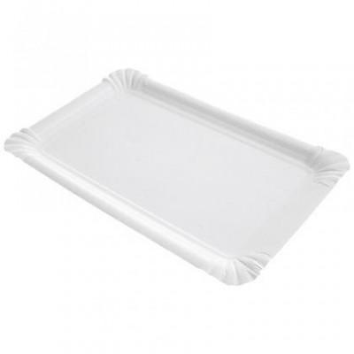 Assiette rectangle carton rectangle blanche 13 X 20 cm