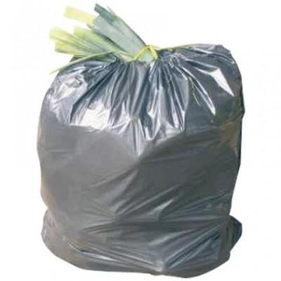 Rouleau de 20 sacs gris pour poubelle 130 L