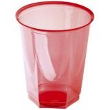 Gobelet plastique rouge 20/25 cl