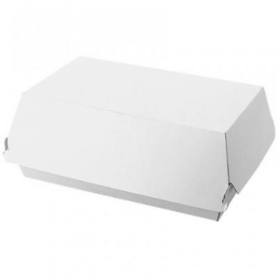 Boite Hamburger blanche en carton 195 X 110 X 80