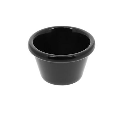 Ramequin pour sauce en mélamine noire 1.5 Oz