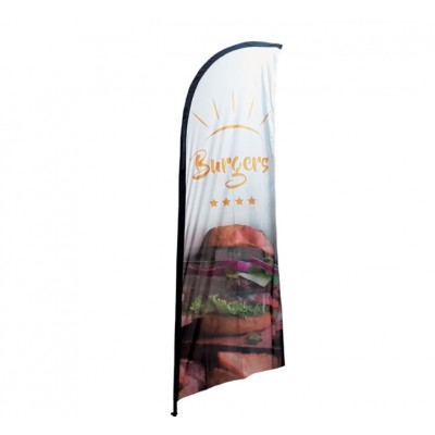 """Drapeau Publicitaire """"Burgers"""" 270 X 100 cm"""