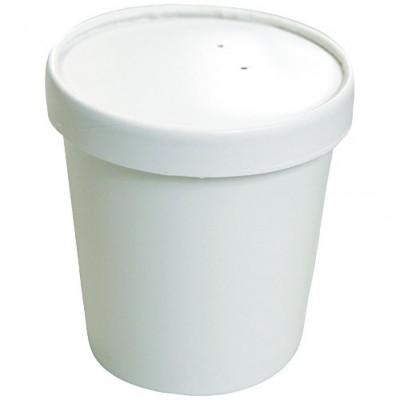Pot à soupe renforcé en carton blanc