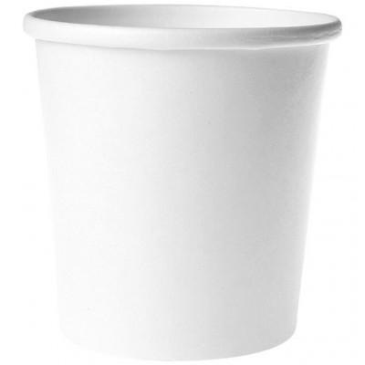 Pot pour soupe en carton renforcé blanc
