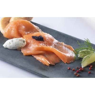Tranche de saumon fumé