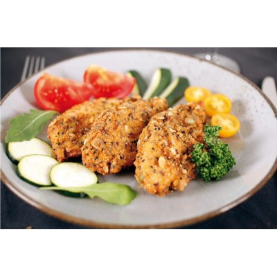 Aiguillette de poulet cuite panee multigrains