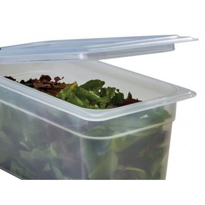 Couvercle pour bac gastronome en polypropylene 1/2 a poignee
