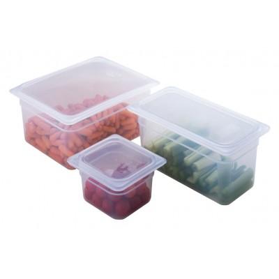 Couvercle pour bac gastronorme en polypropylene 1/3 a poignee