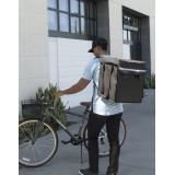 Grand sac à dos de livraison noir  38.1 X 35.5 X 43