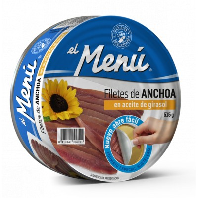 ANCHOIS 350G NET EGOUTTE OUV. FACILE 65-70 FILETS