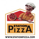 Etiquette ronde Station Pizza