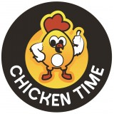 ETIQUETTE RONDE CHICKEN TIME 45 mm x 1000