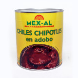 Chili chipotle en adobo boite de 2.8kg (90chili) ambiant
