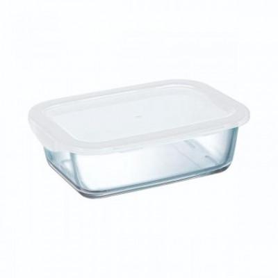 BOITE RECT.ARCOROC V.TREMPE FOOD BOX + COV 186*138*62MM 82CL